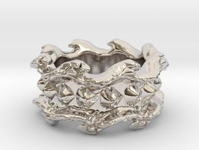Ocean Wave Ring in Platinum: 10.5 / 62.75