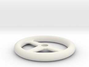 1:10 Scale RC Steering Wheel in White Natural Versatile Plastic