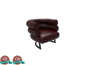 Miniature Bibendum Chair - Eileen Gray in White Natural Versatile Plastic: 1:24