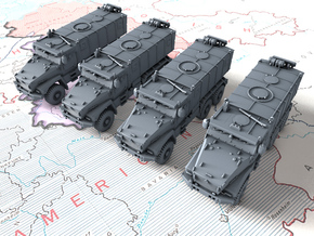 1/285 (6mm) Russian Ural Typhoon 63095 MRAP x4 in Smooth Fine Detail Plastic