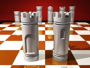 CHESS ITEM TORRE / ROOK in White Natural Versatile Plastic