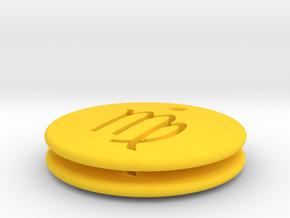 Virgo Symbol Earring in Yellow Processed Versatile Plastic