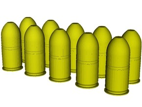 1/10 scale M-781 40x46mm grenades x 10 in Smooth Fine Detail Plastic