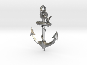 Anchor in Natural Silver (Interlocking Parts): Medium