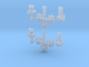 Orbital Civillian Modules (6) in Smooth Fine Detail Plastic