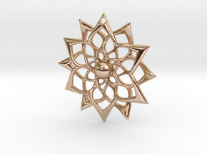 851 Flower Pendant in 14k Rose Gold Plated Brass