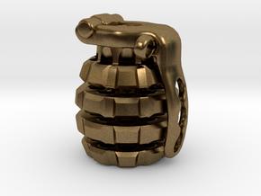 Toxic Bomb - tritium grenade bead in Natural Bronze