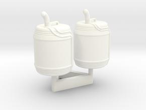 1:43 DEAGO FALCON YT1300 ANH JERRYCAN SET TA.1 in White Processed Versatile Plastic