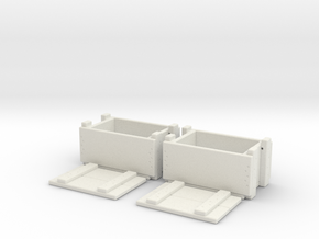 1/10 scale ammunition & grenade MilSpec crates x 2 in White Natural Versatile Plastic