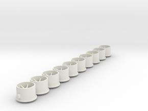 Flachfelge 12x8x2_0Fl in White Natural Versatile Plastic