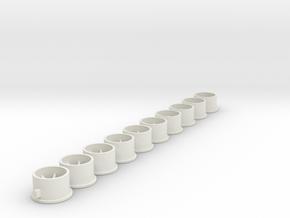 Flachfelge 10x6x2_0Fl in White Natural Versatile Plastic