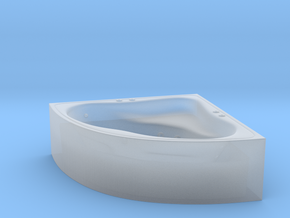 Jacuzzi Corner 01. HO scale (1:87) in Smooth Fine Detail Plastic