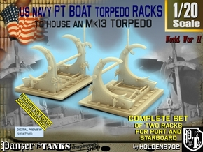 1/20 PT Torpedo Rack TypC in Smooth Fine Detail Plastic