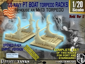 1/20 PT Torpedo Rack TypD Empty in Smooth Fine Detail Plastic
