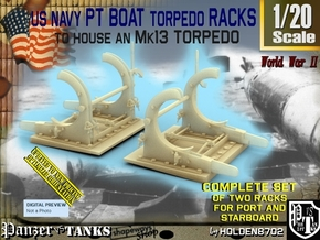 1/20 PT Torpedo Rack TypF in Smooth Fine Detail Plastic