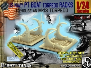 1/24 PT Torpedo Rack TypB in Smooth Fine Detail Plastic