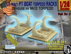 1/24 PT Torpedo Rack TypC in Smooth Fine Detail Plastic