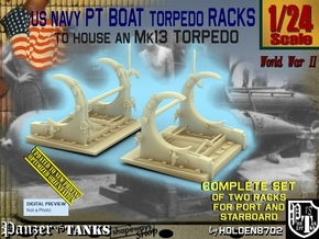 1/24 PT Torpedo Rack TypE in Smooth Fine Detail Plastic