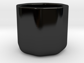 Octo Mug in Gloss Black Porcelain