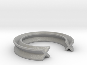 """""""X"""" ring - (Awarded - First prize) - Unisex in Raw Aluminum: 12 / 66.5"""