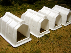 "1/64th ""S"" Scale Calf Hutch set of Six in White Processed Versatile Plastic"