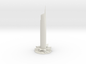 Almas Tower (1:2000) in White Natural Versatile Plastic