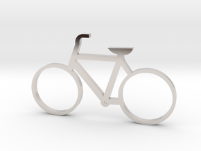 Bicycle Keychain in Platinum