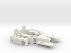 RevOne32 3mm Achshalter Schwingarmhalter Universal in White Natural Versatile Plastic