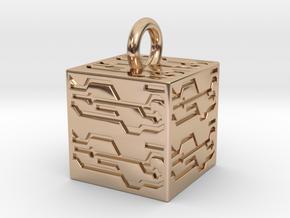 Nier Automata Black Box in 14k Rose Gold