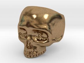 Skull Ring v3 - Size 6 in Natural Brass