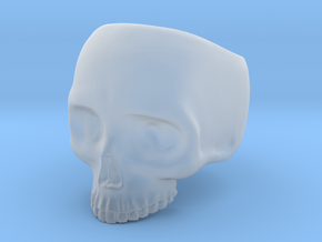 Skull Ring v3 - Size 6 in Smooth Fine Detail Plastic
