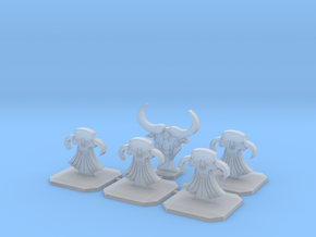 Evil Dwarf Topper / Token / Objective / Marker in Smooth Fine Detail Plastic