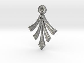 Modern Arrowhead (Tufa texture) with hidden bail in Natural Silver