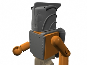 Rocketeer Helmet & Jetpack for Minimates (w/front  in Smooth Fine Detail Plastic