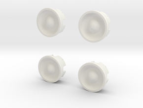 Wheel-cap-set in White Natural Versatile Plastic