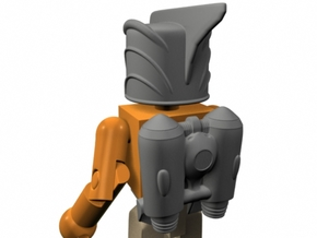 Rocketeer Helmet & Jetpack for Minimate (w/o fron in Smooth Fine Detail Plastic