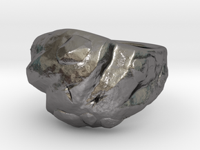 Rock ring in Polished Nickel Steel: 10 / 61.5