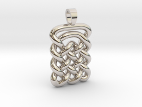 Plate celtic knot [pendant] in Rhodium Plated Brass