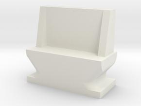 USB dust cover in White Natural Versatile Plastic