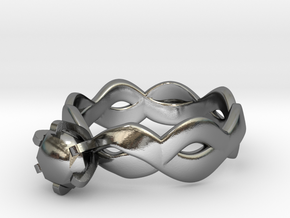 Double wave in Polished Silver: 5 / 49