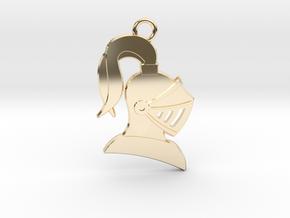 Knight Helmet Pendant/Keychain in 14K Yellow Gold