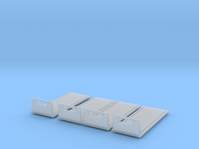 20 Ft flat beds N scale in Smooth Fine Detail Plastic