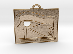 Egyptian Scrying Eye Amulet in Polished Gold Steel