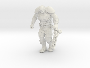 Mutant Overseer with Gauss Minigun in White Natural Versatile Plastic