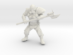 Wasteland Heavy Muscled Bandit with Shotgun Spear  in White Natural Versatile Plastic