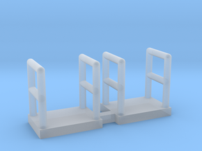 N Scale Walkway 5mm 2pc in Smooth Fine Detail Plastic