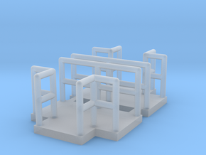 N Scale Walkway T 2pc in Smooth Fine Detail Plastic