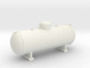 Propane tank 500 gallon. O Scale (1:48) in White Natural Versatile Plastic