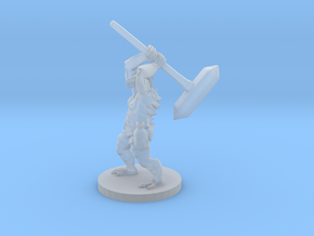 Dragonborn Barbarian with a Maul in Smooth Fine Detail Plastic