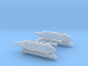 .303 Browning machine gun pods for Cessna 337 Lynx in Smooth Fine Detail Plastic: 1:72